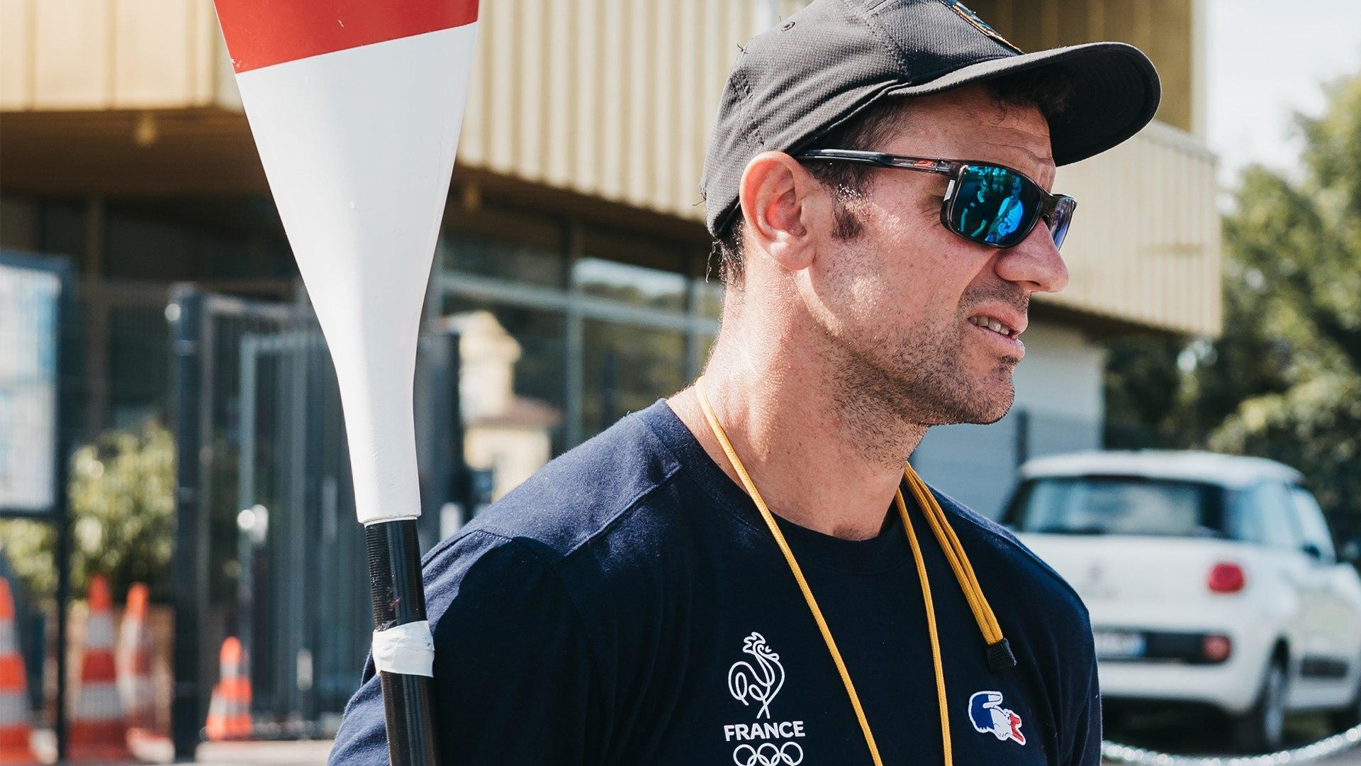 Maxime Beaumont à la base de canoë-kayak de Riedisheim