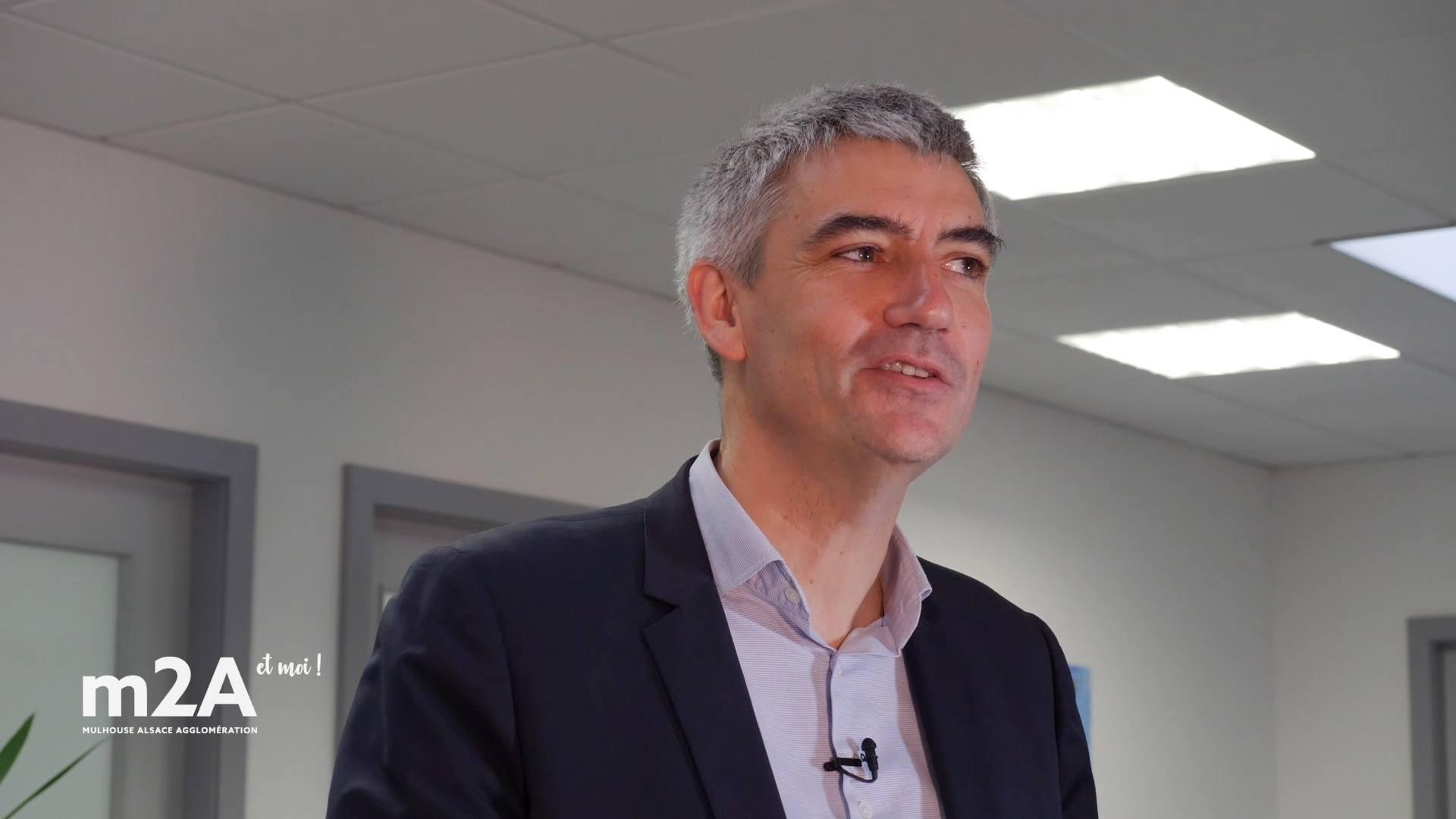 Christophe Corne, PDG de Systancia à Sausheim, leader mondial de la sécurité numérique