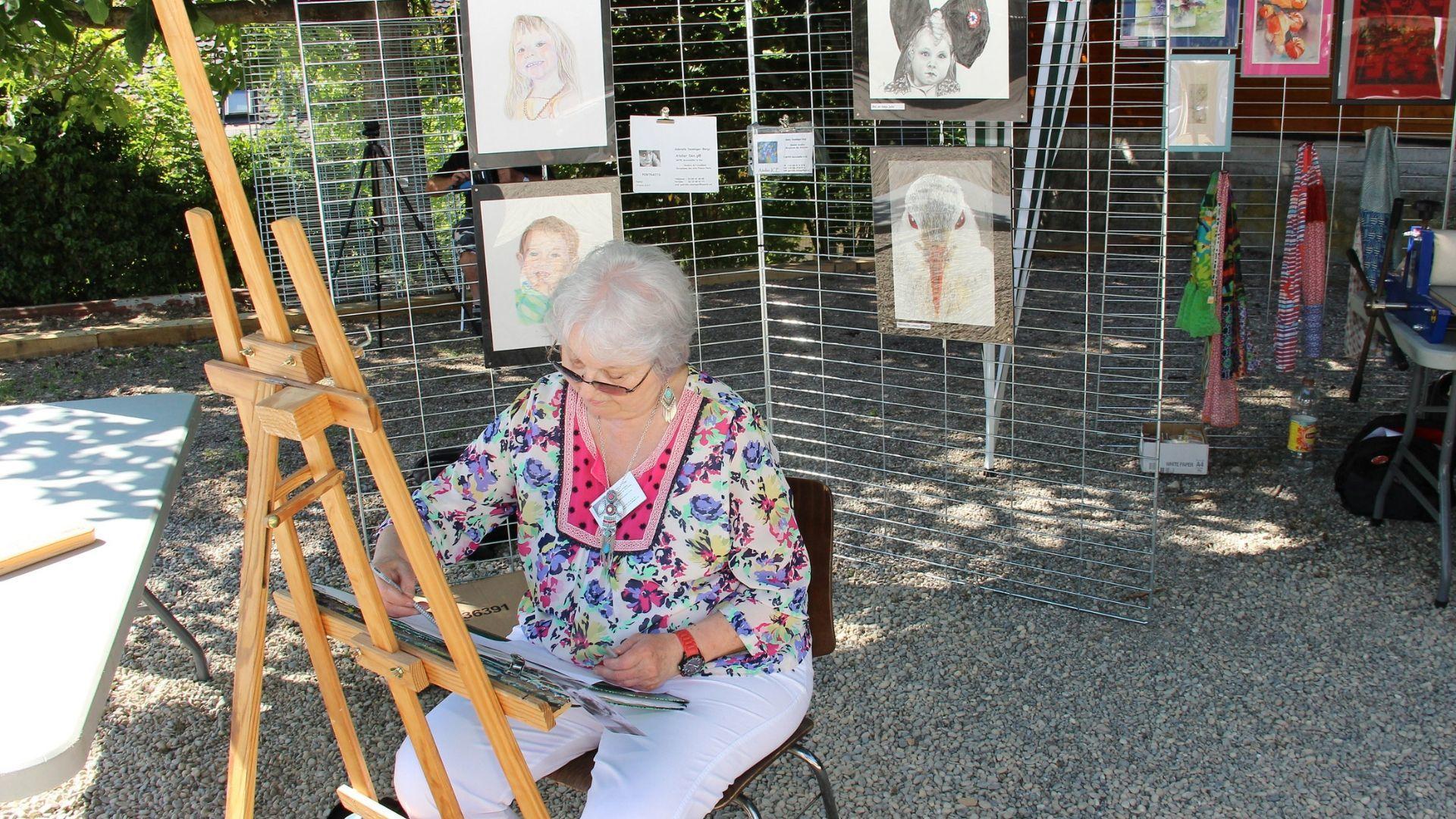 Atelier peinture en plein air au Jardin des Passions de Morschwiller-le-Bas