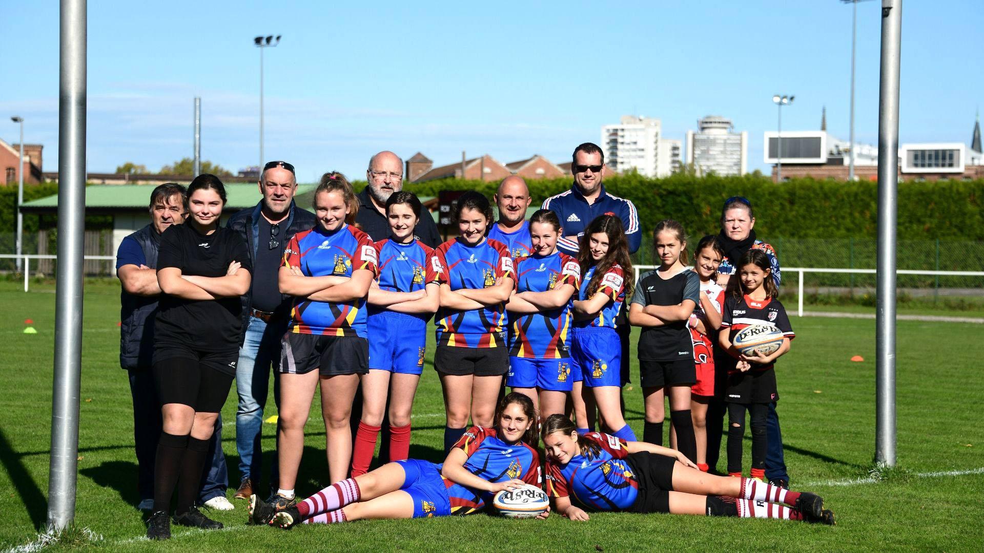 L'équipe du Rugby des copines