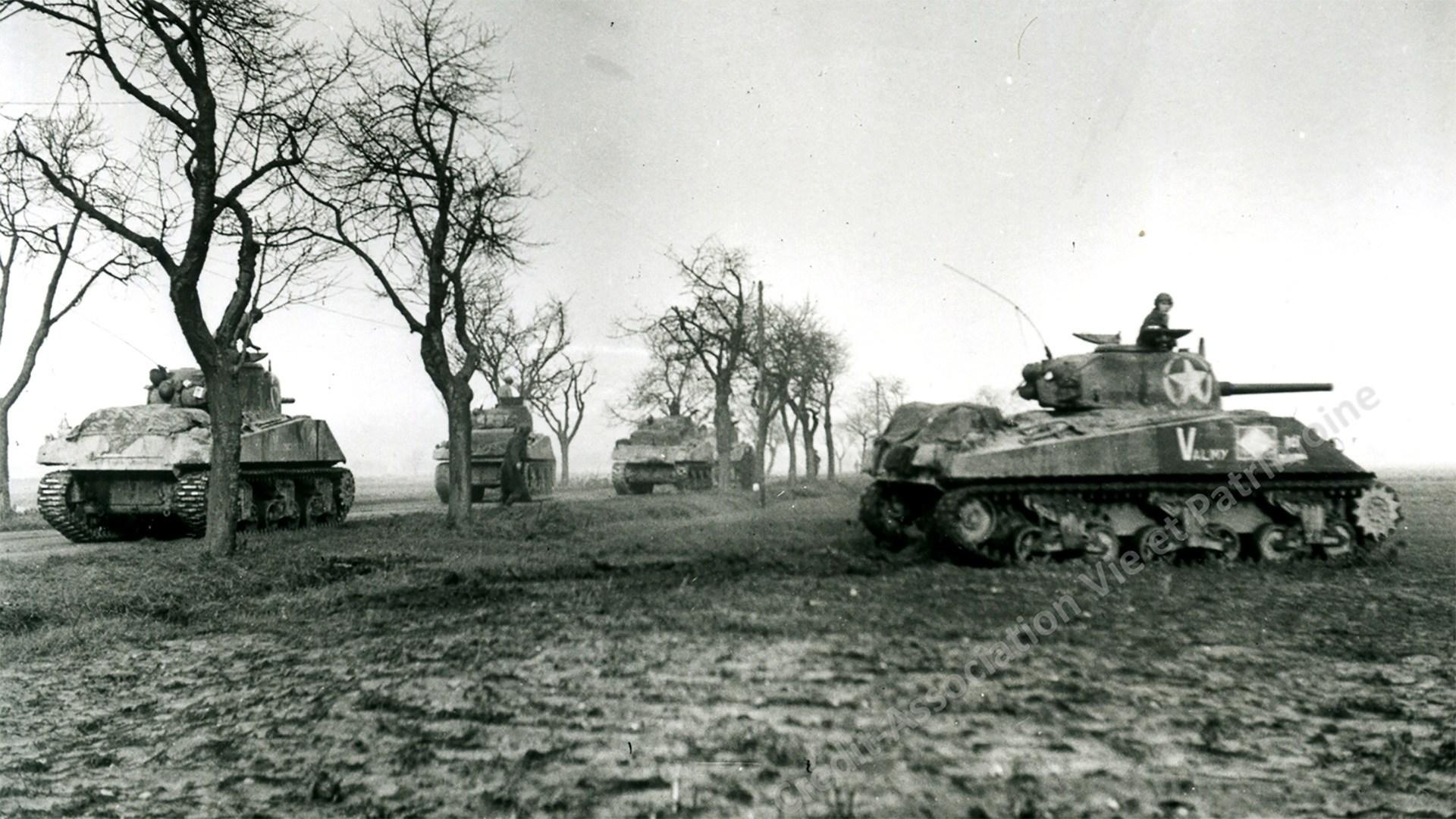 Chars Américains vers Brunstatt, 1944