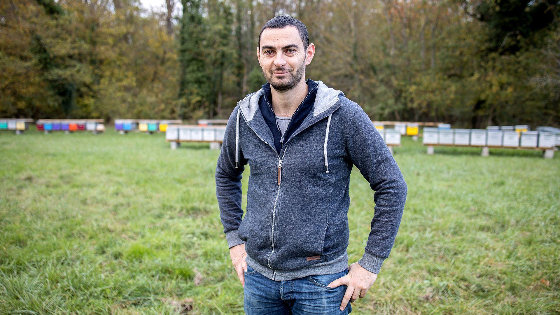 Romain Grangladen, apiculteur semi-professionnel