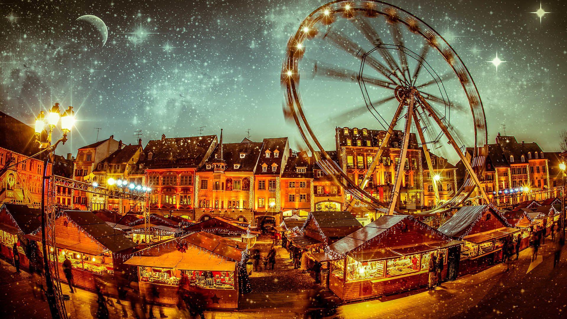 Le marché de Noël de Mulhouse par Thomas Itty