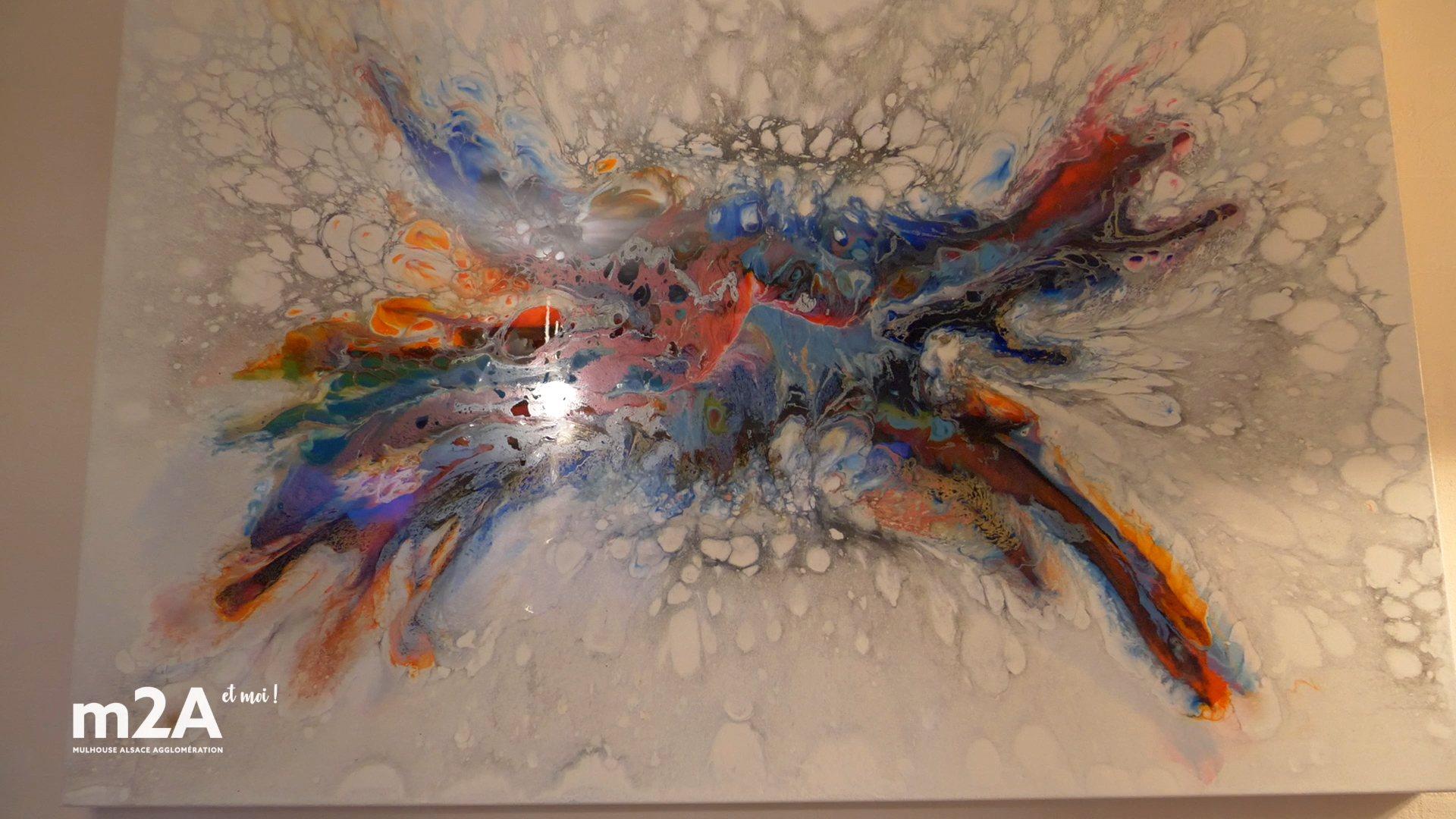 Peinture en résine