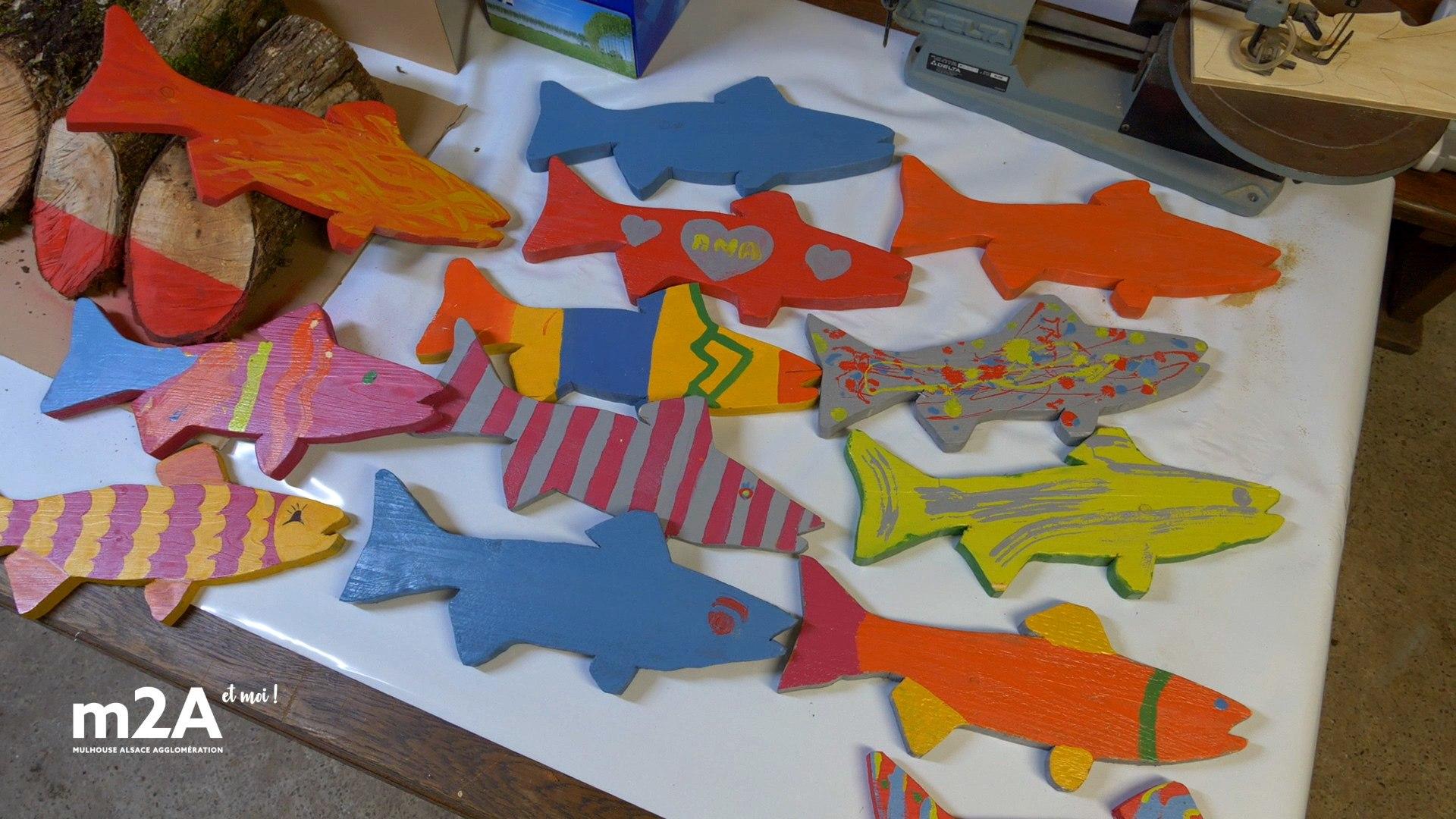 Des poissons peints pour la Journée Citoyenne