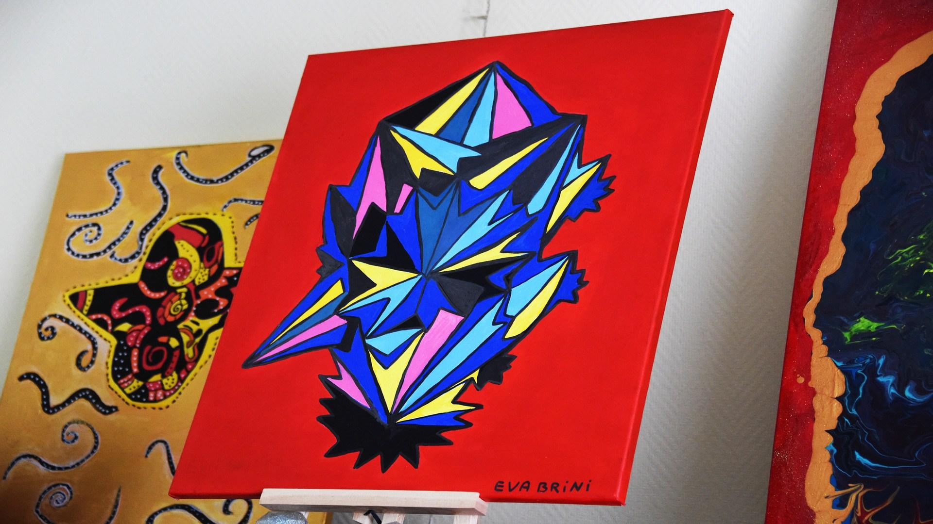 La palette colorée d'Eva Brini