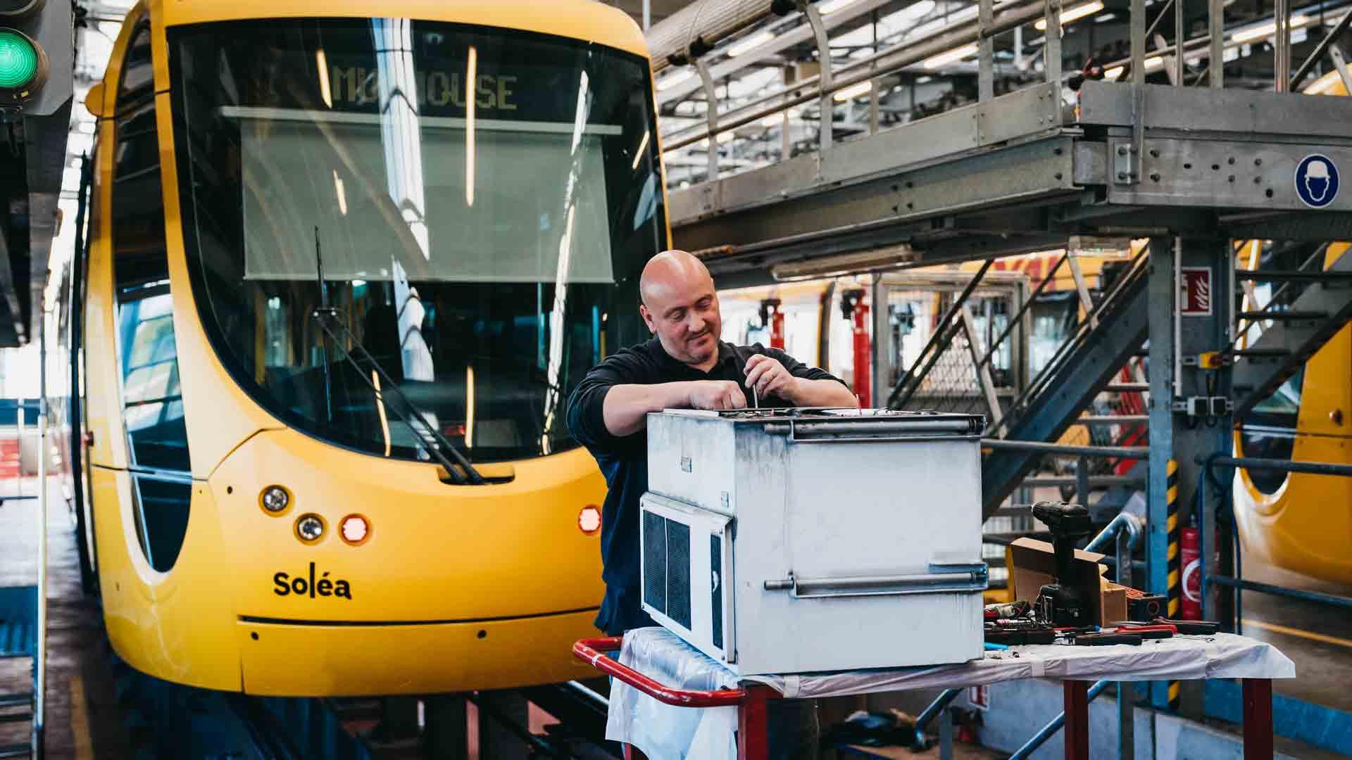 Soléa : L'atelier Maintenance Tramway et Tram-train.