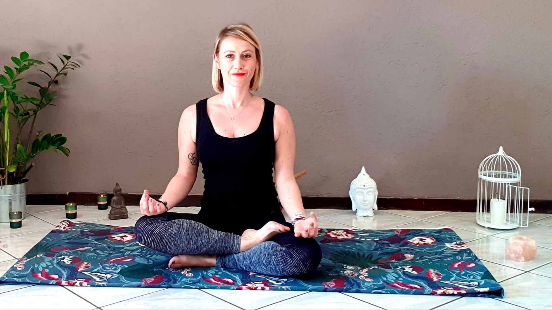 Florence Roth et sa pause yoga pendant le confinement