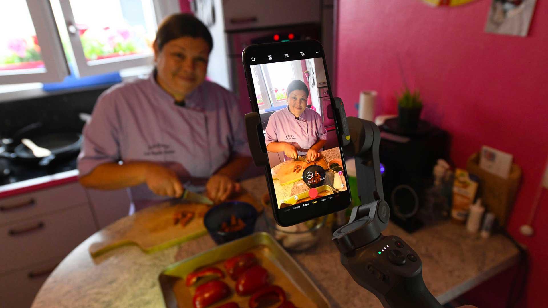 Audrey Sortino en pleine cuisine