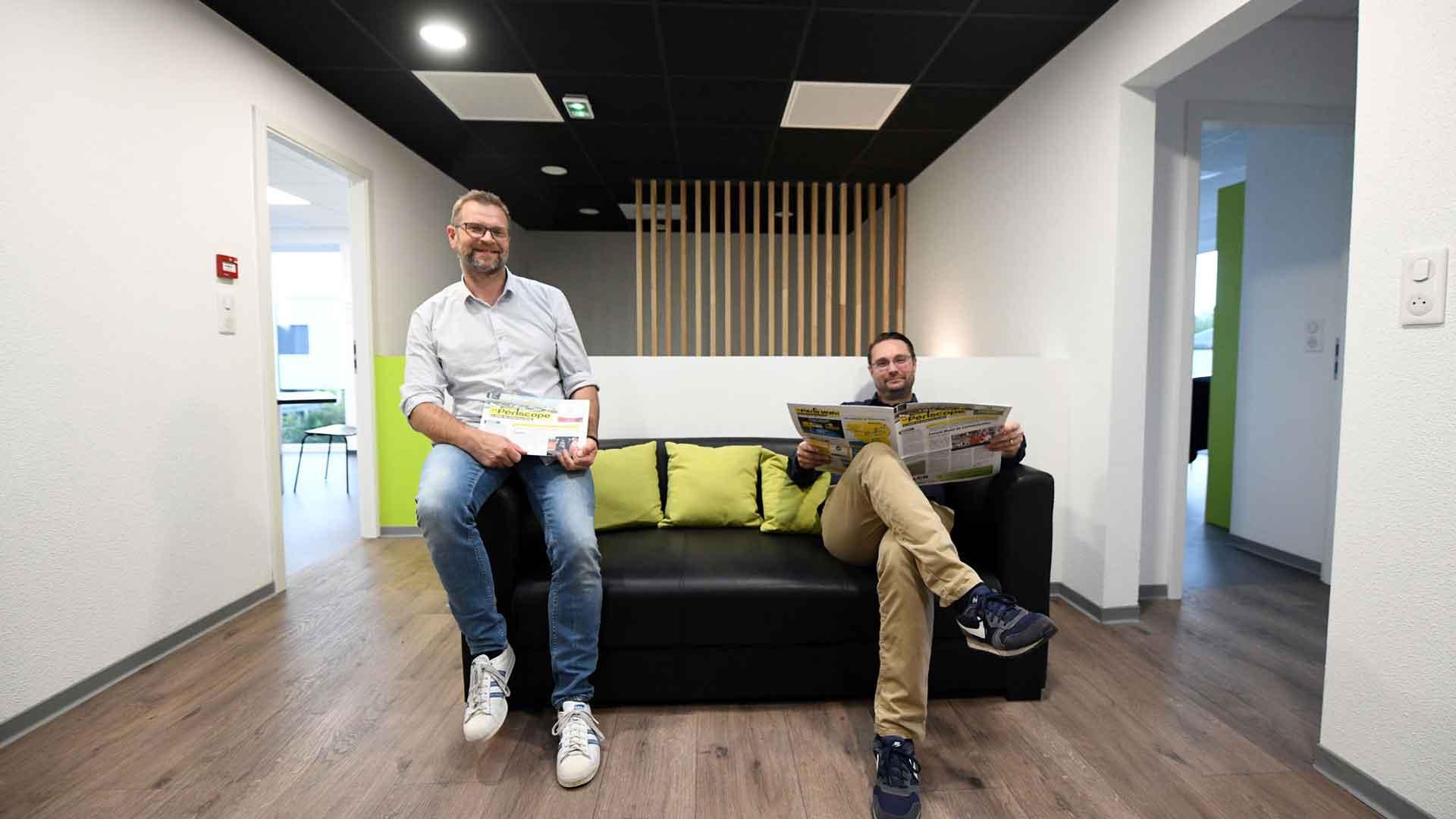 Charles Plaisant, directeur général du Périscope (à gauche) et Anthony Hernu, directeur commercial, sont à l'origine de l'initiative