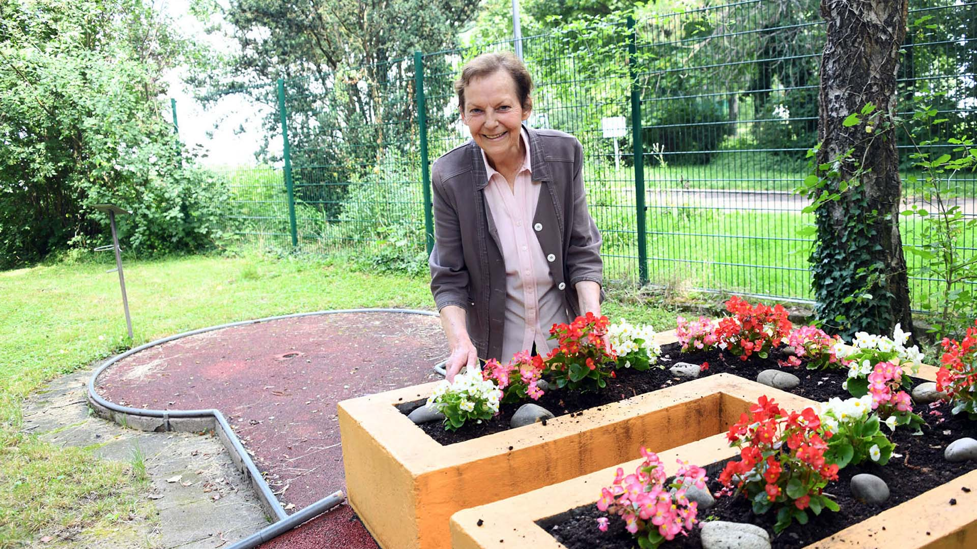 Marilyse Bialy, responsable du minigolf depuis 44 ans