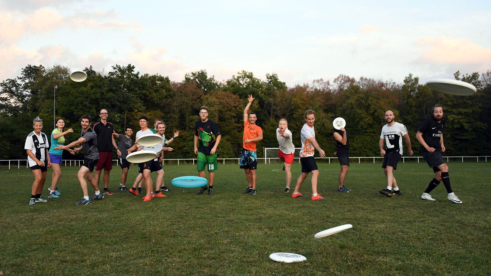 A Rixheim le premier club de frisbee du Haut-Rhin : 15 sportifs avec le sourire