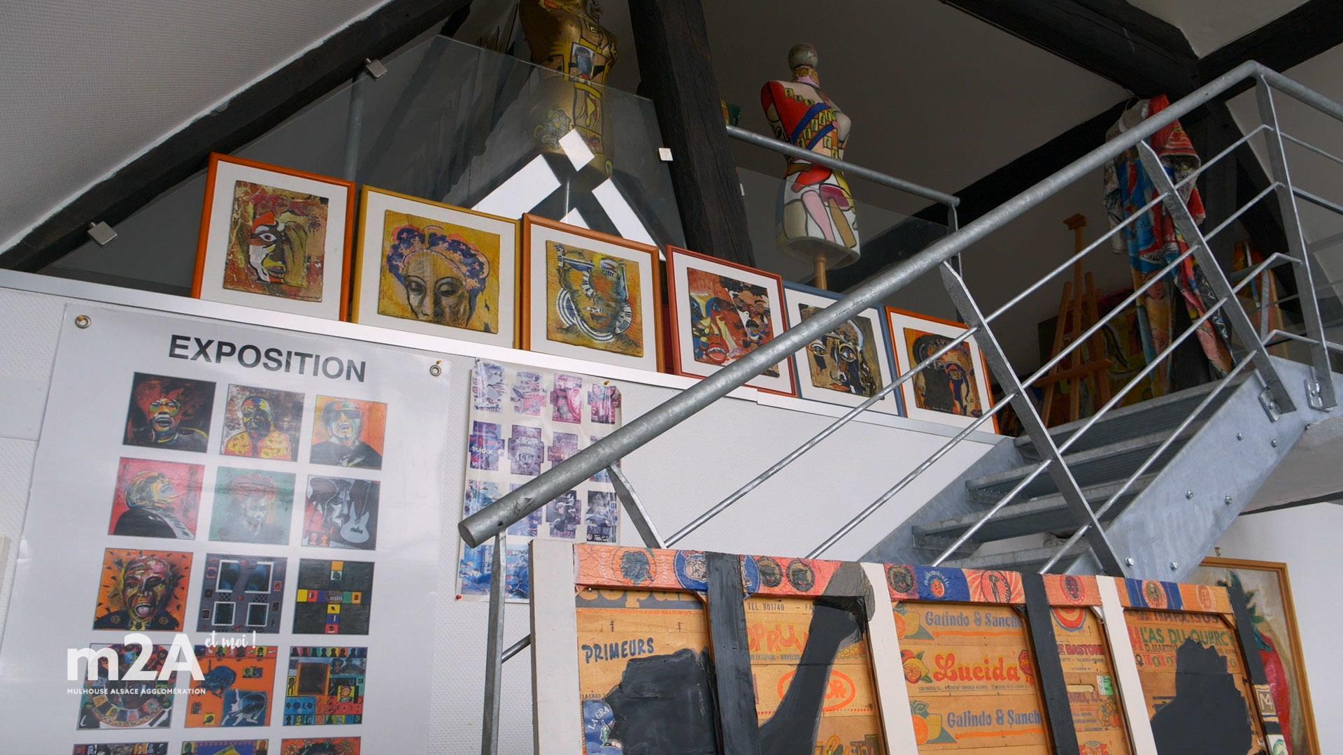 Antoine Barine de Dietwiller navigue entre terre et verre, galerie d'art à la maison