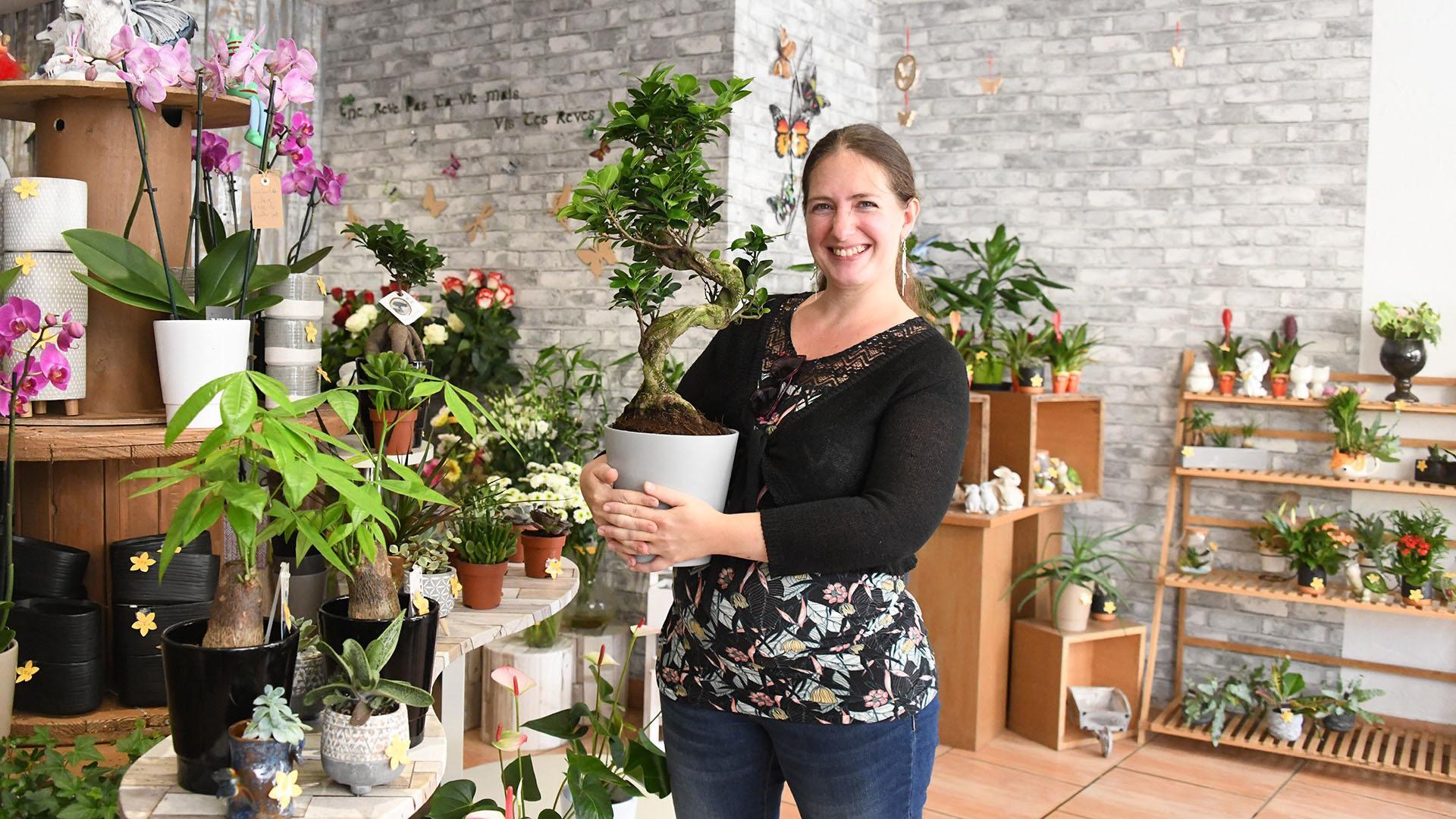 Céline Perez, une fée des fleurs à Riedisheim