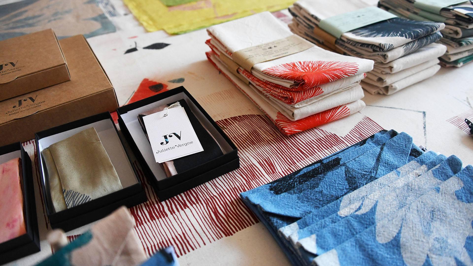 Juliette Vergne artisan designer textile - Petit textile pastel