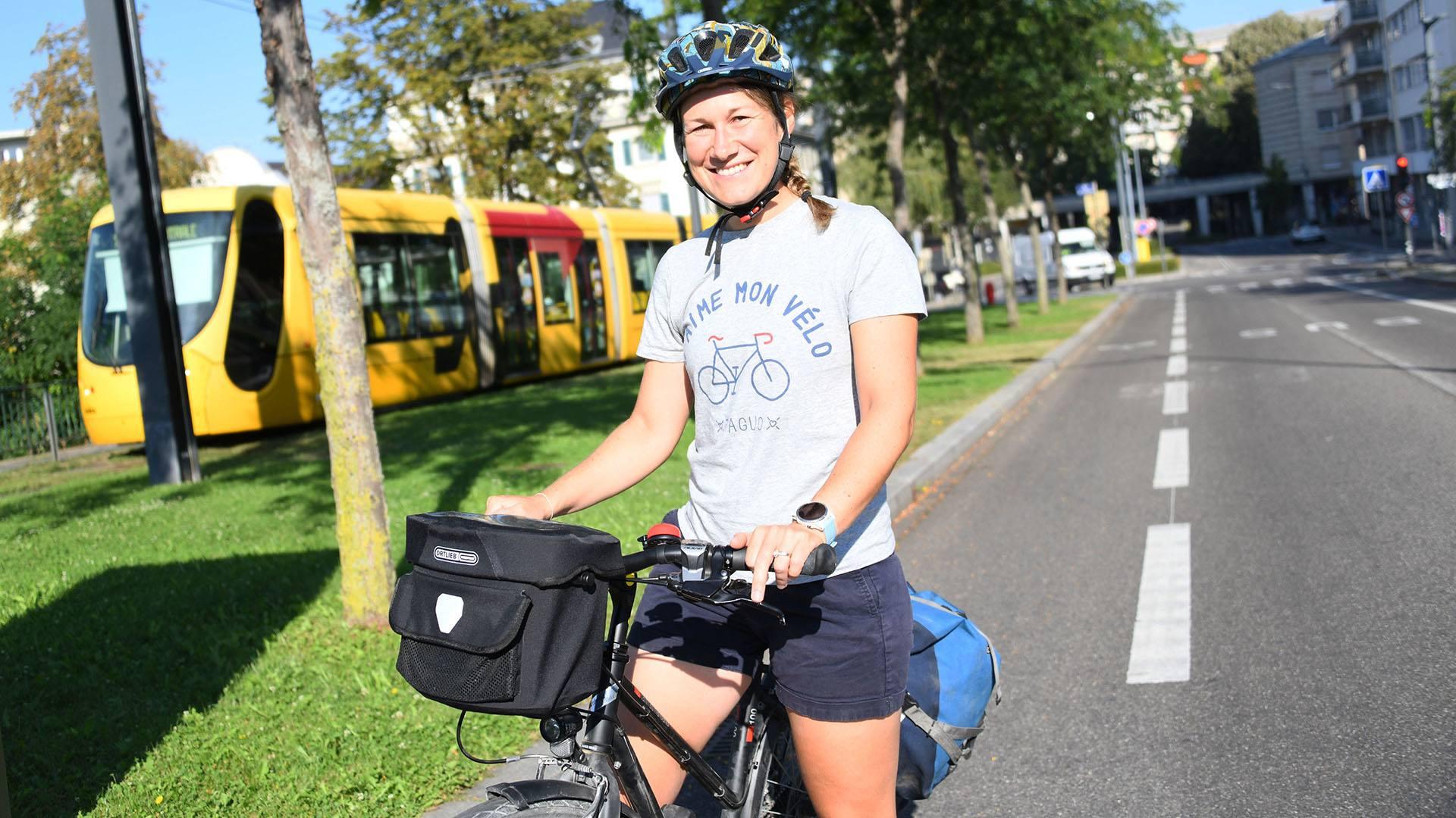 Laurène Philippot a testé un circuit à vélo dans l'agglomération