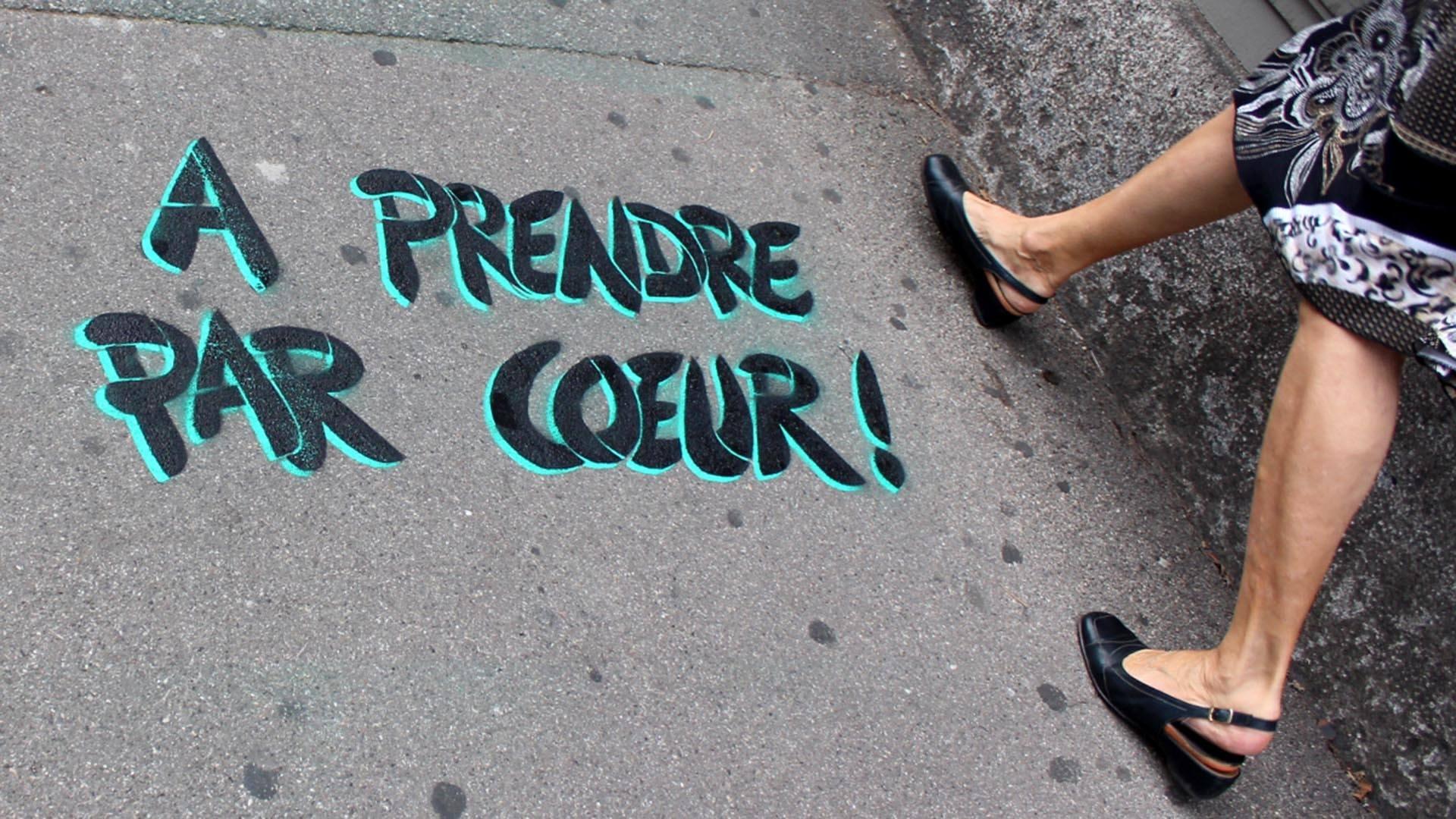 Pierre Fraenkel un poète dans la ville : jeu de mot au sol