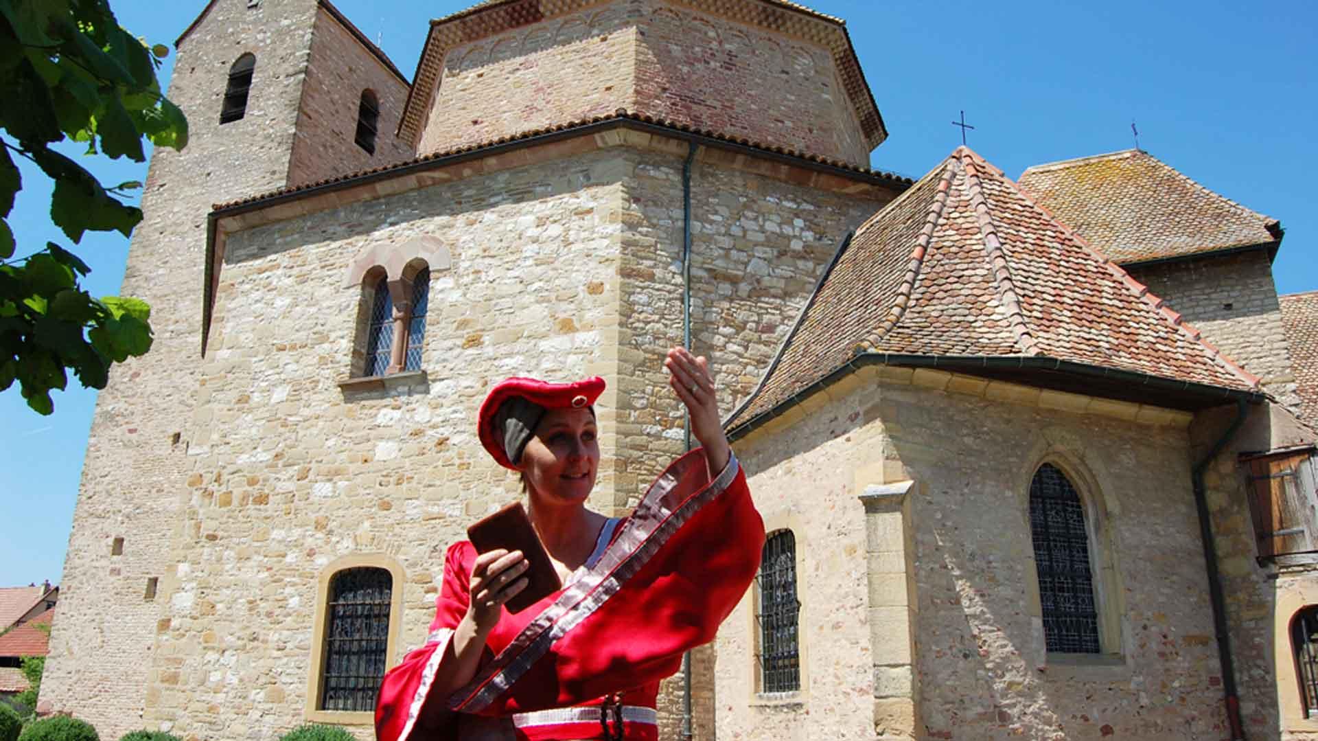 Visites théâtralisées de l'abbatiale d'Ottmarsheim