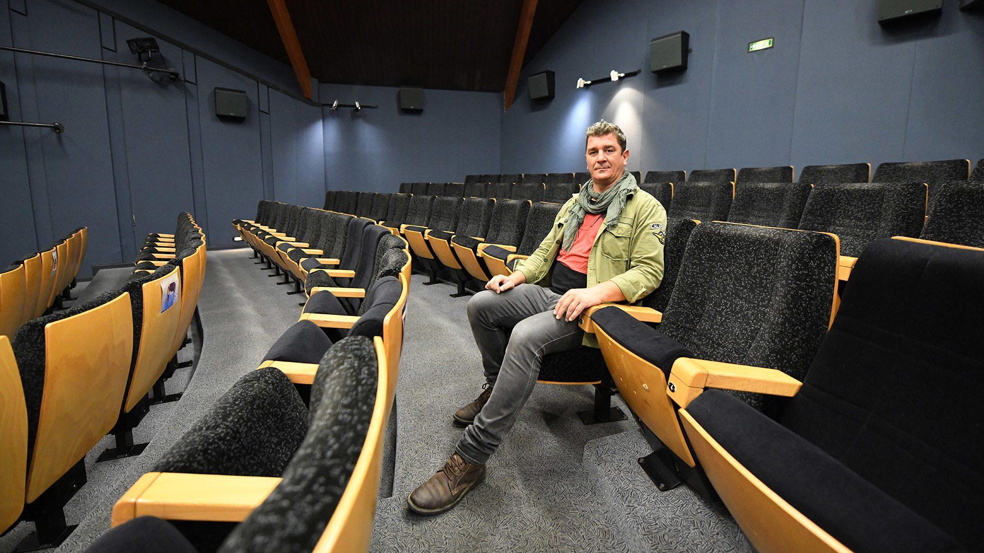 Cinoch 21e festival Ciné Jeunesse à Rixheim : Jérôme Jorand projectionniste et responsable à la passerelle