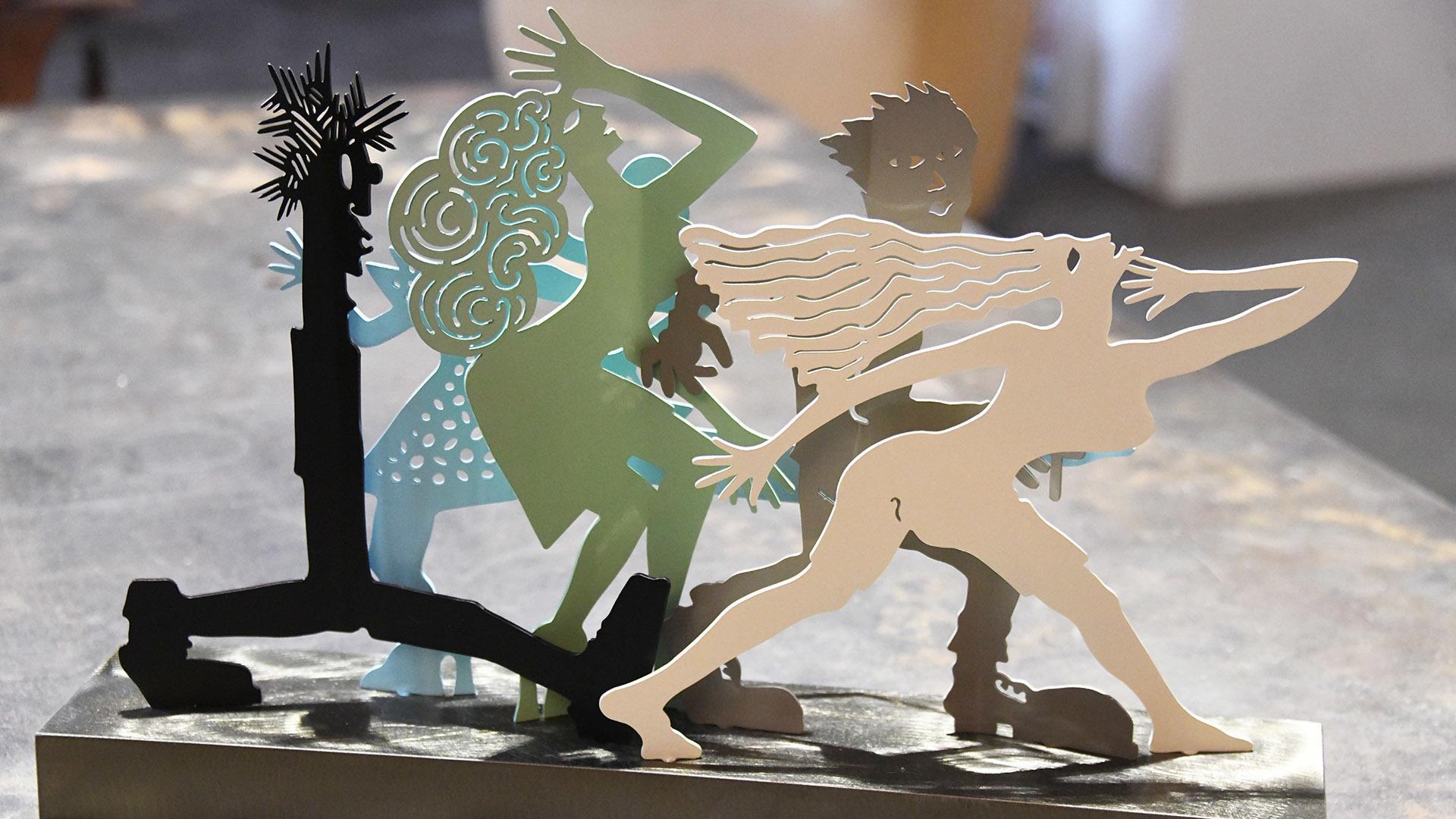 Sébastien Haller placticien sculpteur : Silhouettes en mouvement