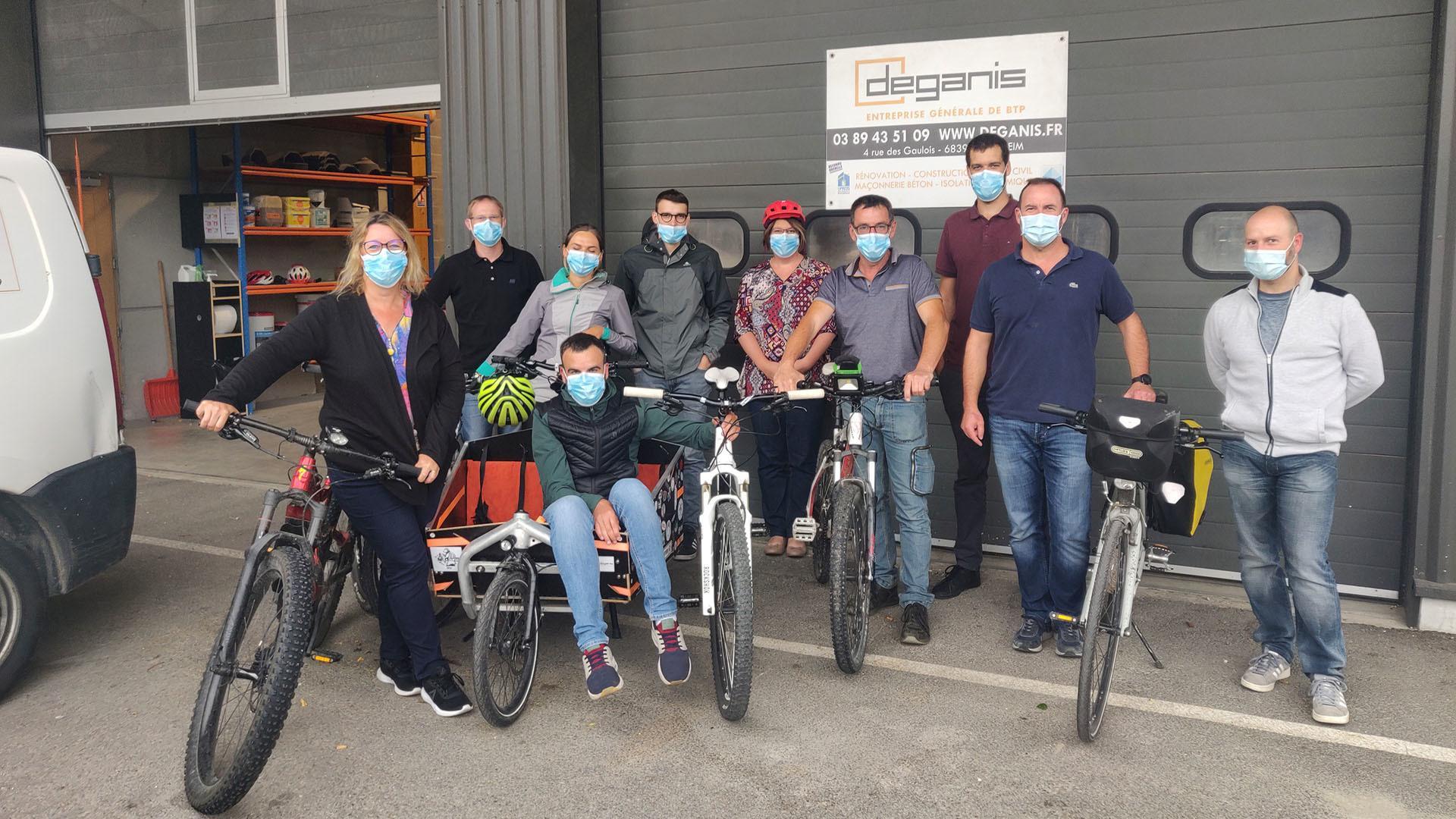 A vélo dans toute l'agglo : les salariés de Déganis à la 1ère place du Grand Est