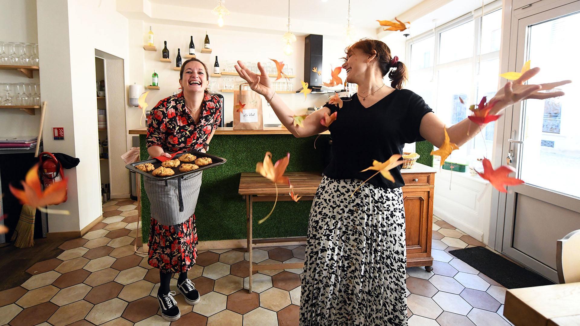 Le Nid : une guinguette urbaine à Mulhouse : Sophie et Charlotte, fondatrices du nid