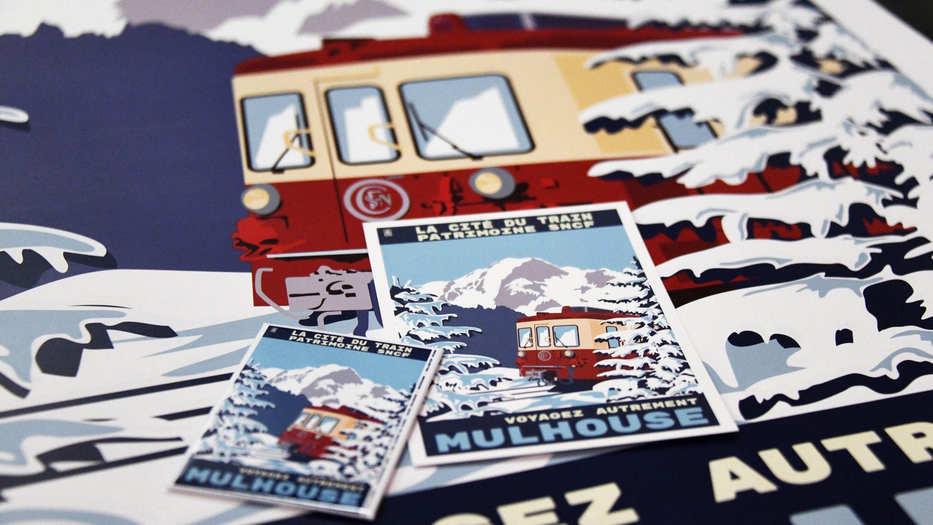 Une nouvelle affiche vintage pour la Cité du Train : la locomotive Z604