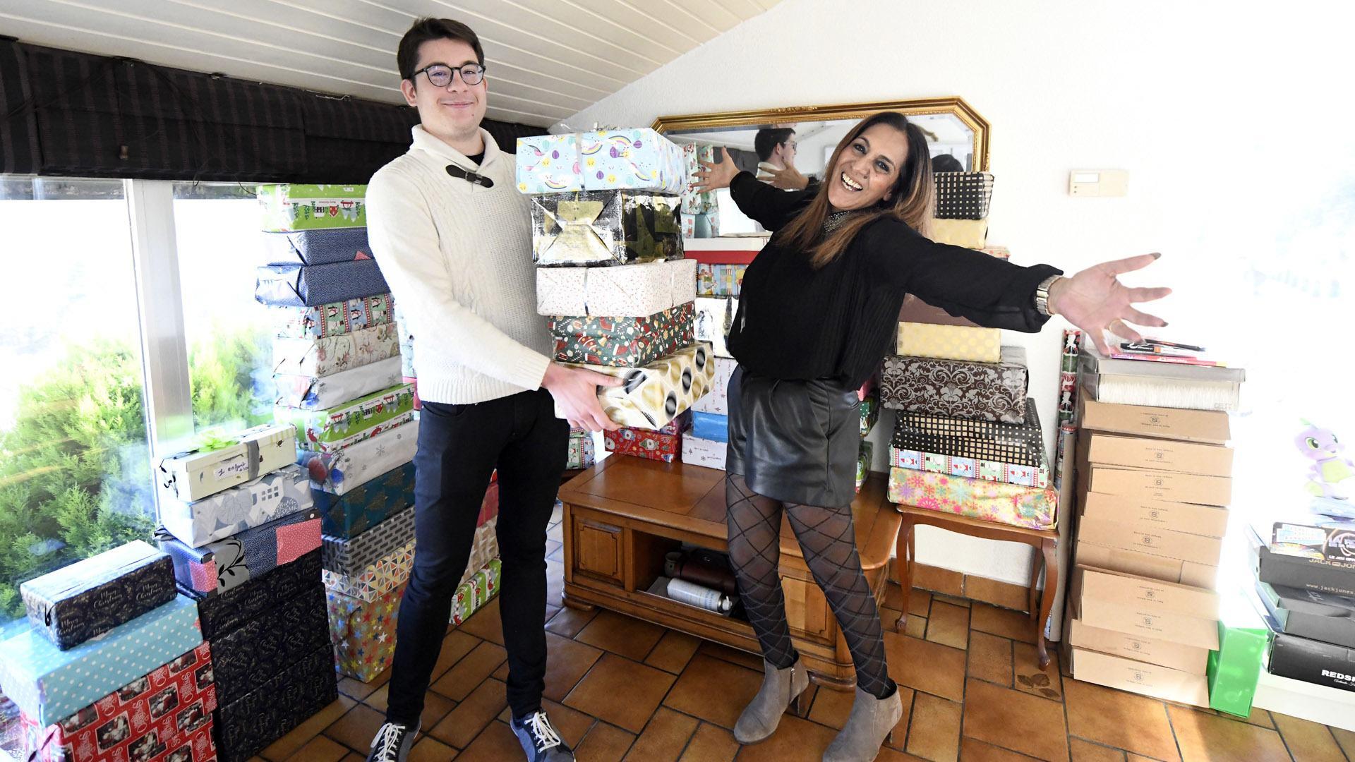 Les boites de Noël font un carton : Malika coordonne l'opération avec le groupe boite de Noël Haut-Rhin