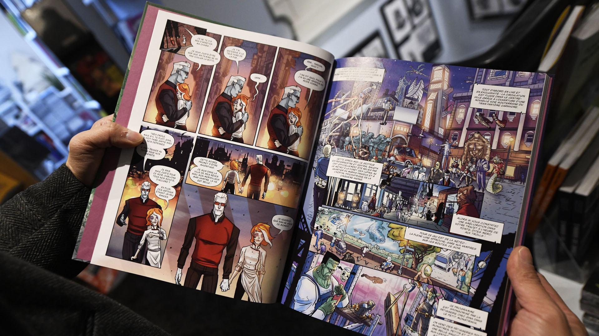 Mulhouse : l'illustrateur Frédéric Pham Chuong expose ses oeuvres : choisi sur une planche test pour boulevard des monstres
