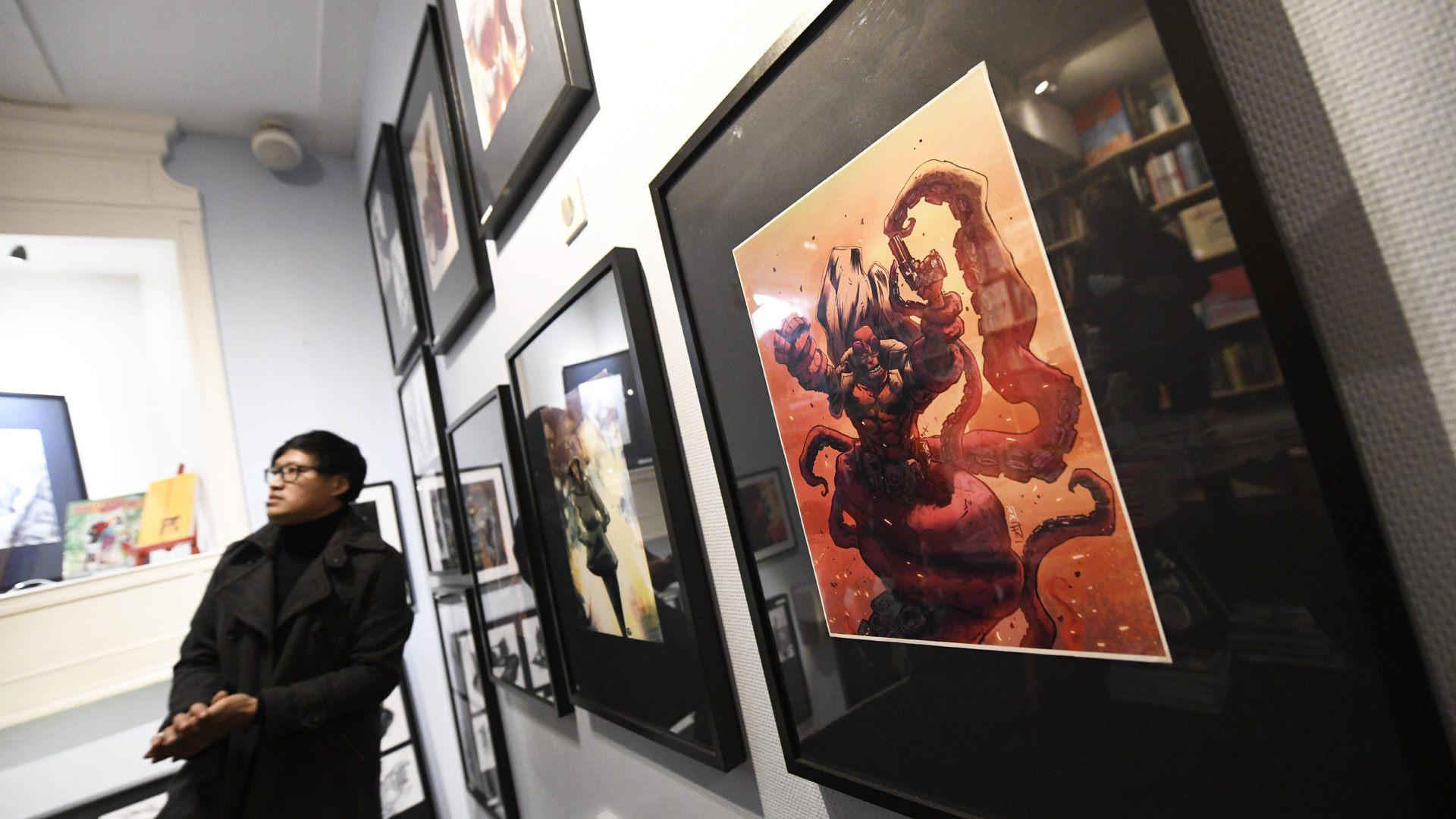 Mulhouse : l'illustrateur Frédéric Pham Chuong expose ses oeuvres : héros et monstres au coeur de son exposition