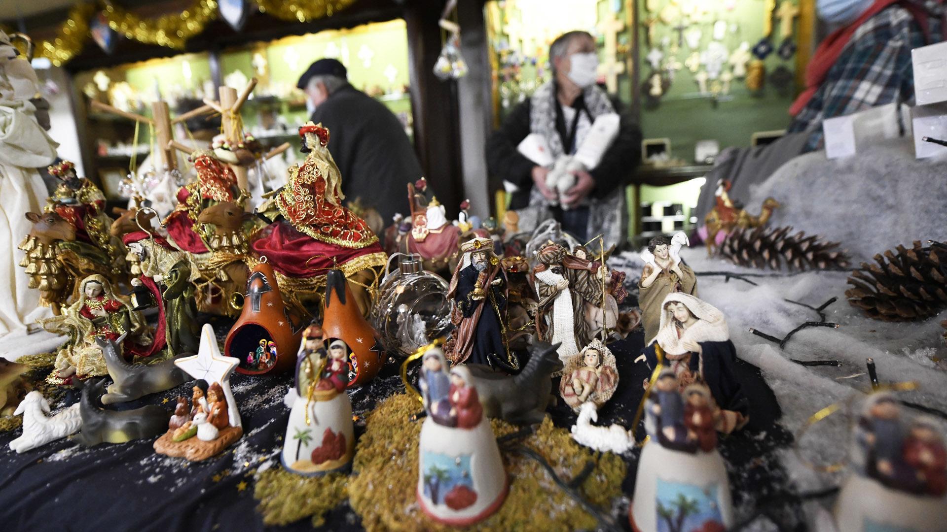 Reiningue le magasin de l'abbaye joue la proximité : la boutique propose aussi des décorations à thème