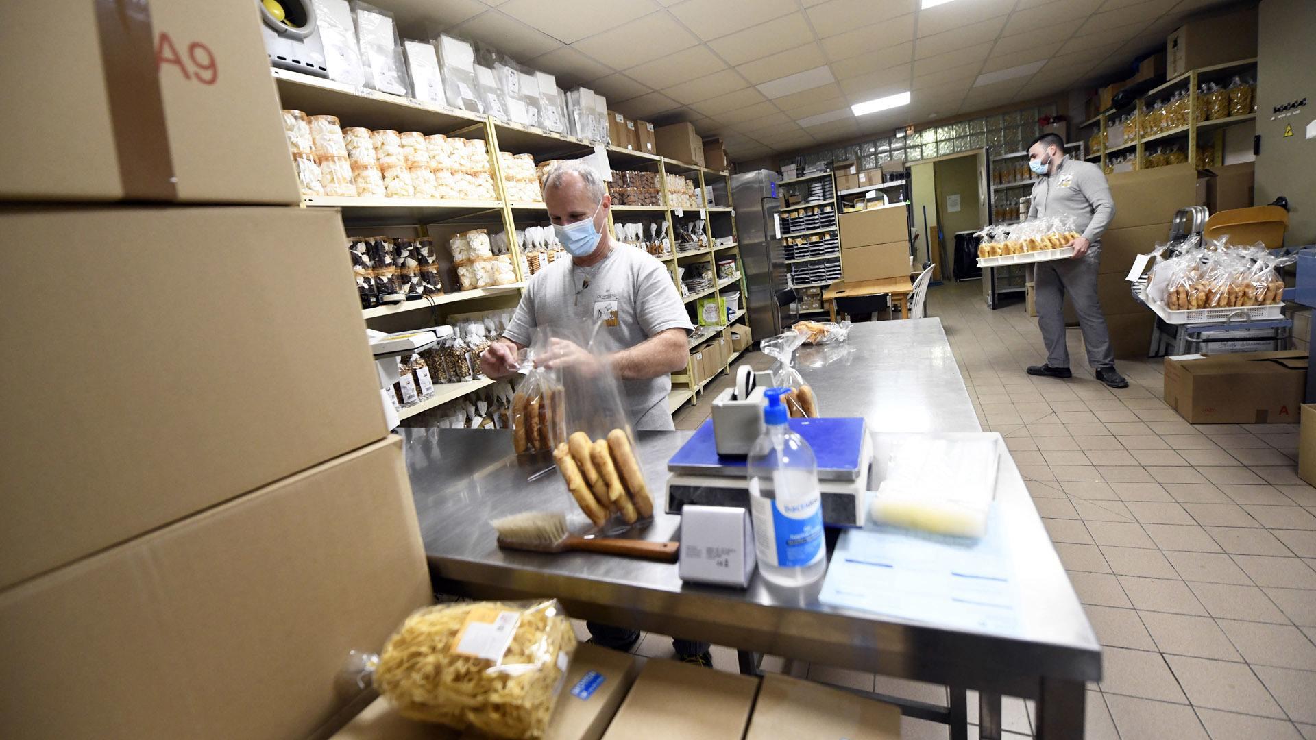 Reiningue le magasin de l'abbaye joue la proximité : Préparation des livraisons en coulisse