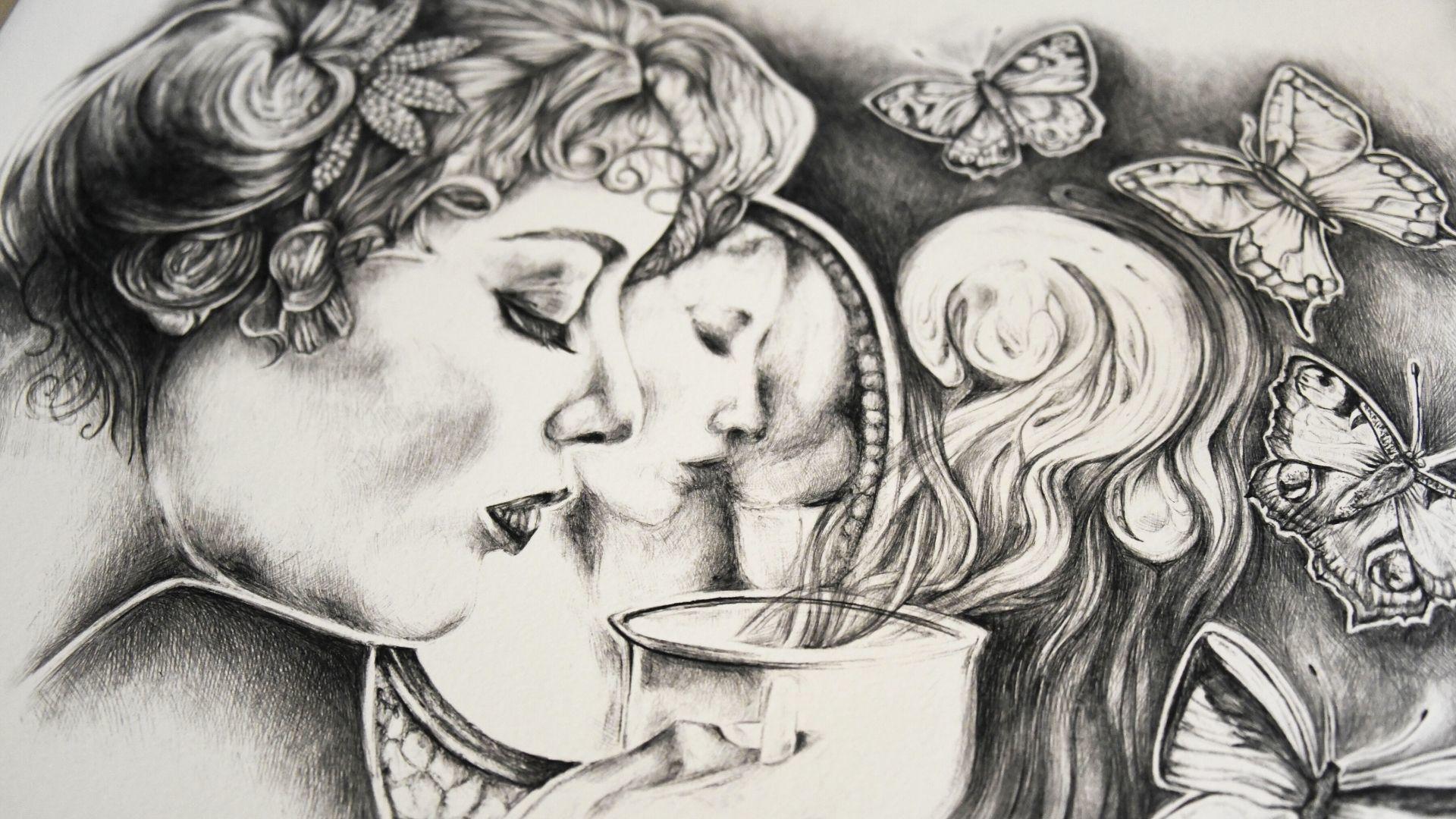 Amandine Lefebvre dessinatrice au stylo bic : un travail sans esquisse