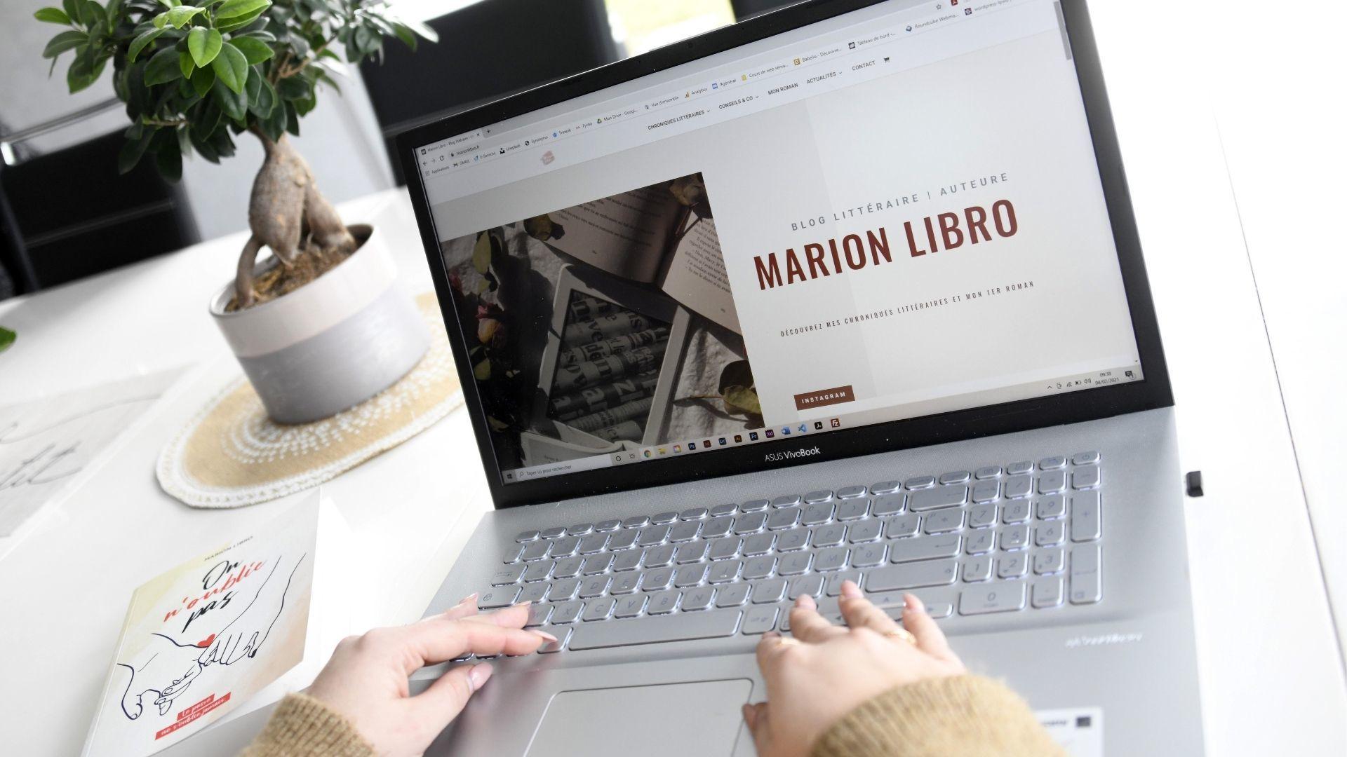 Marion Libro auteure et blogueuse littéraire : découvrez le blog de marion libro