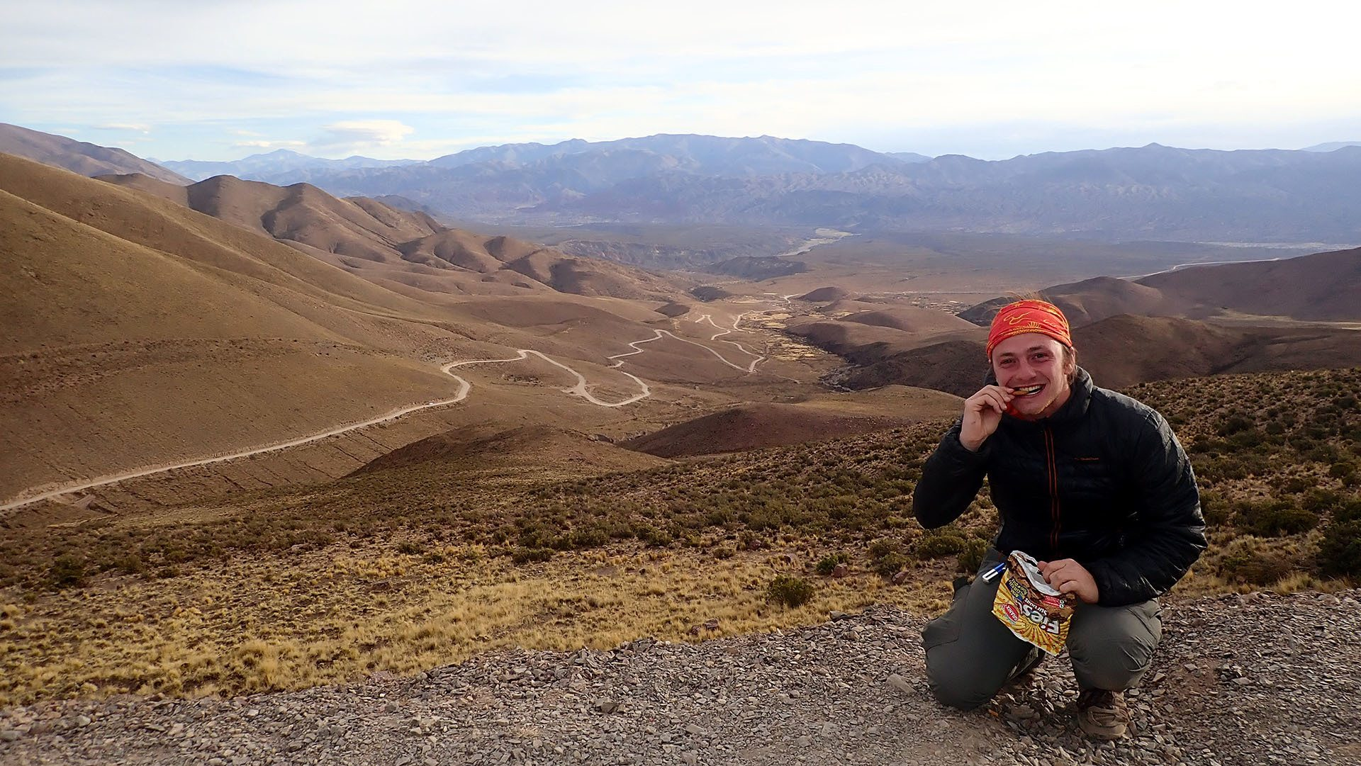 Pfastatt : le tour du monde en stop de Julien de Weijer : en revenant de la montagne aux 14 couleurs en Argentine