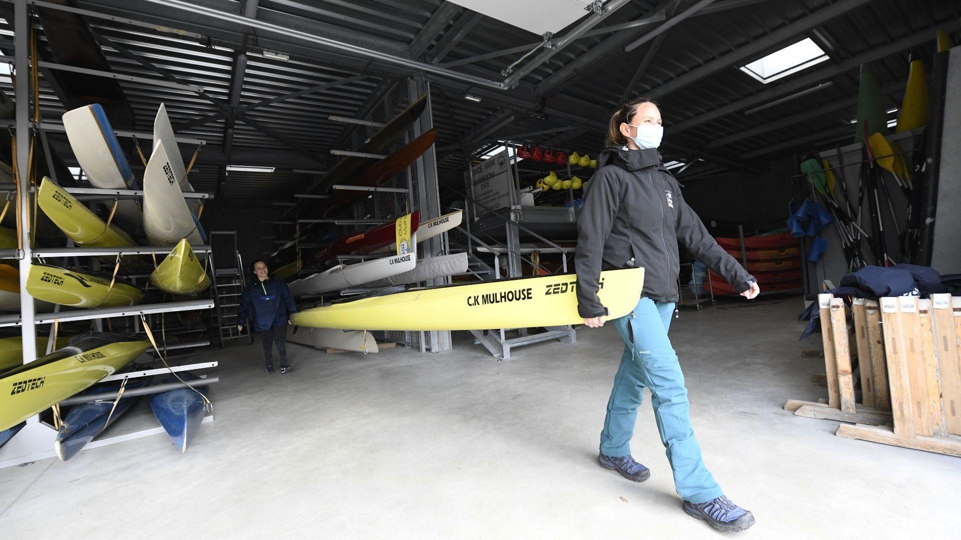 Riedisheim du handikayak au club de canoë kayak : un bateau avec plus ou moins d'adaptation
