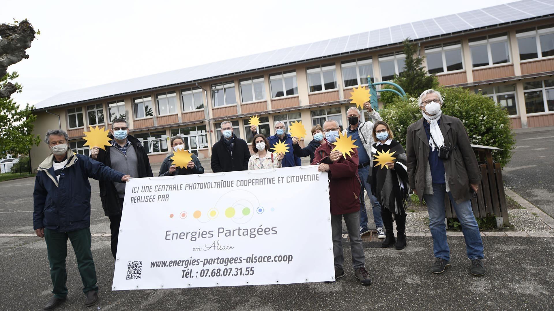 Kingersheim un toit solaire sur l'école du Centre : L'énergie du collectif