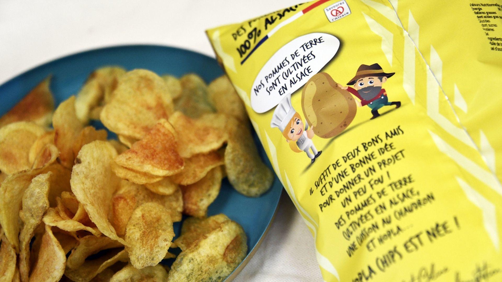 Des chips faites de pommes de terre locales !