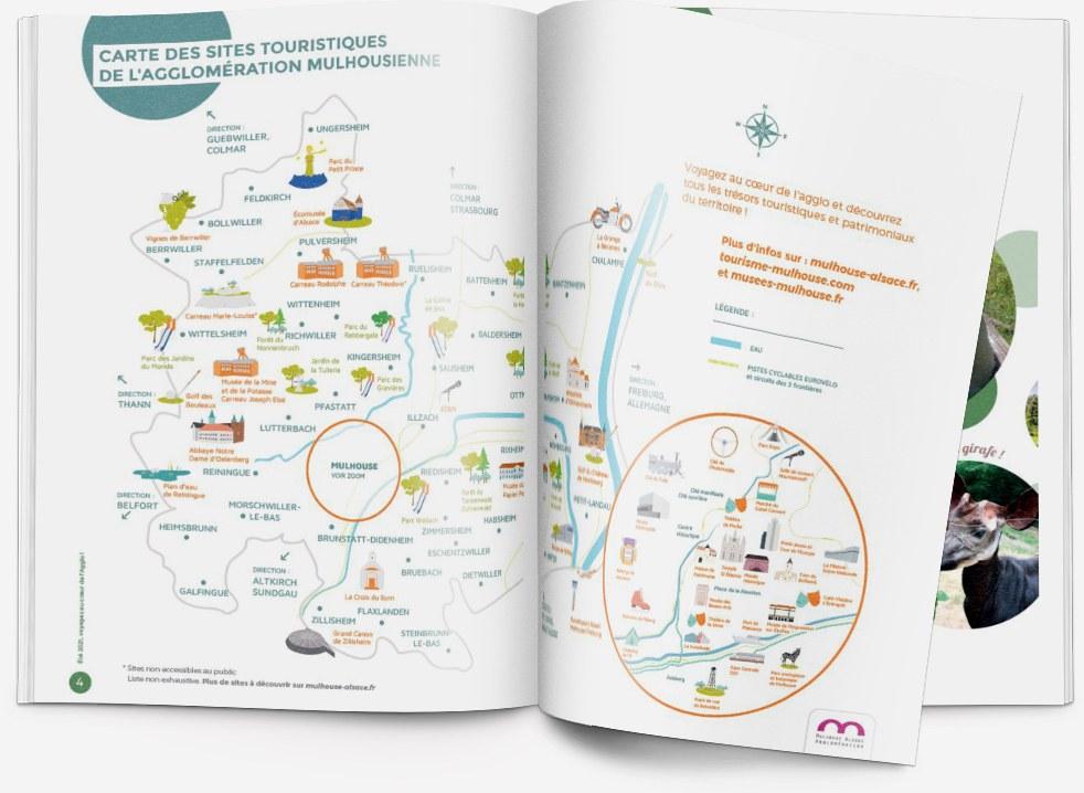 Feuilleter le magazine papier 'Brochure Tourisme été 2021' | m2A et moi ! Le mag de Mulhouse Alsace Agglomération