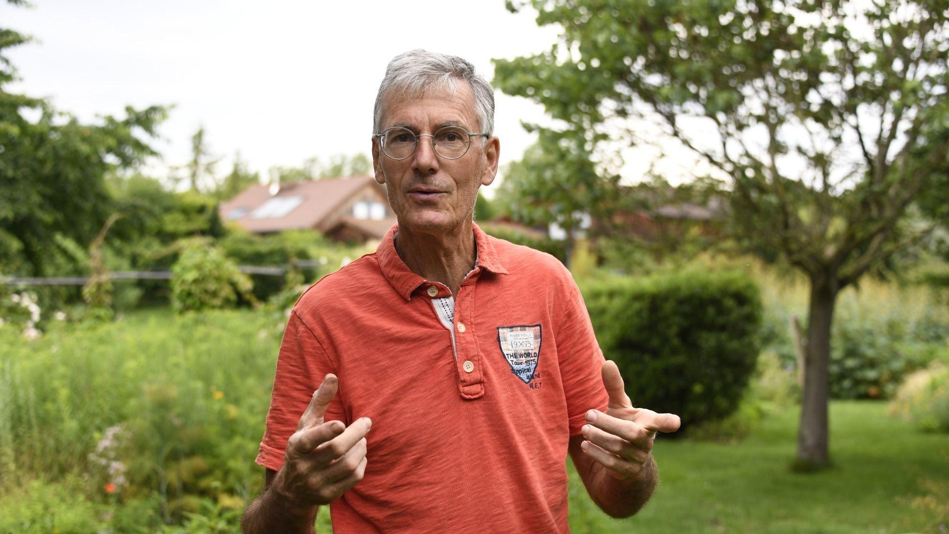 Alain Koeberlé, le créateur du parc Les Jardins du temps d'illzach