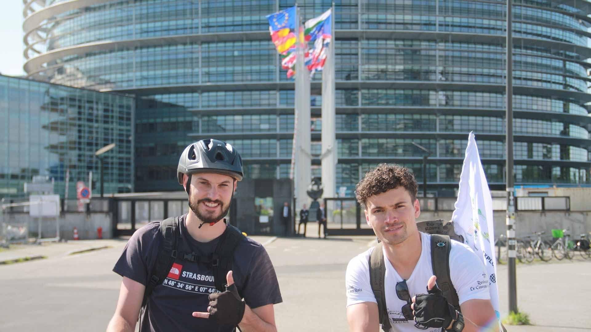 L'aventure Explore Squad de Kingersheim au cap Nord à vélo Timothé Nicot et François Bihl fondateurs d'Explore Squad
