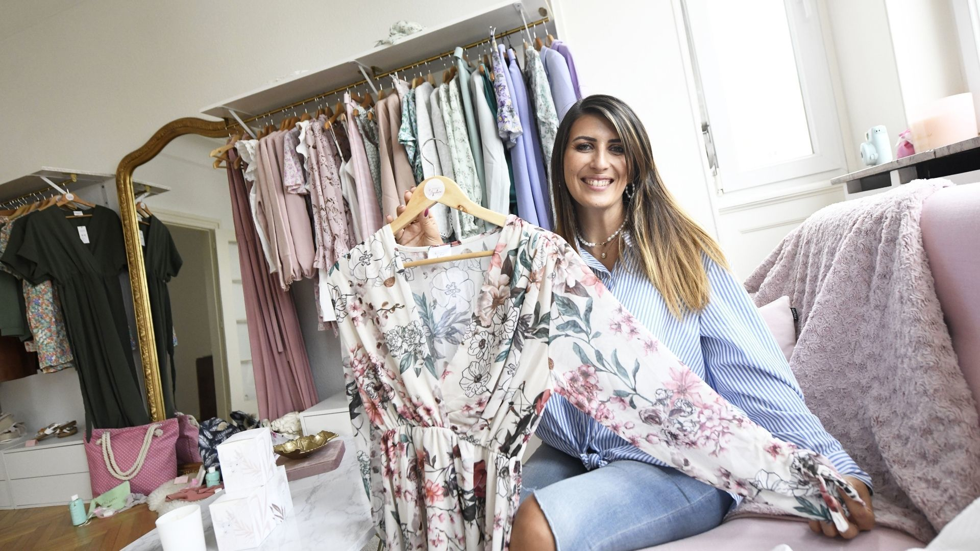 Julie Rotolo dans sa boutique