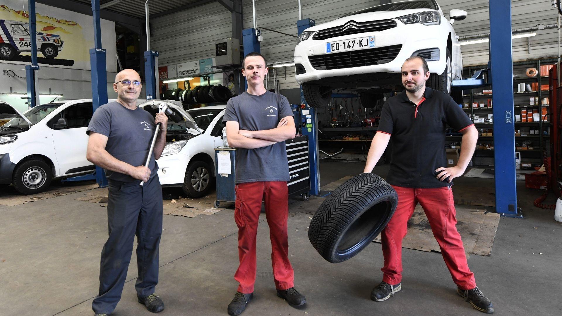 L'équipe du Garage Roland